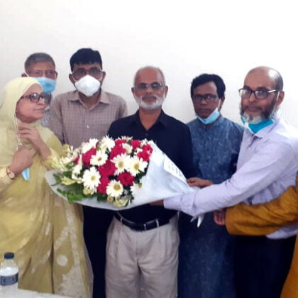 Flower Presentation with Nazrul Islam Khan